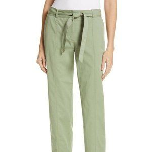 Nordstrom signature pants green belted NWT sz 18